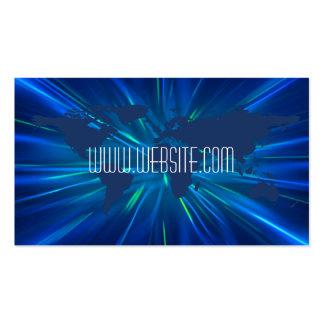 Warp Speed World Map Professional Business Card