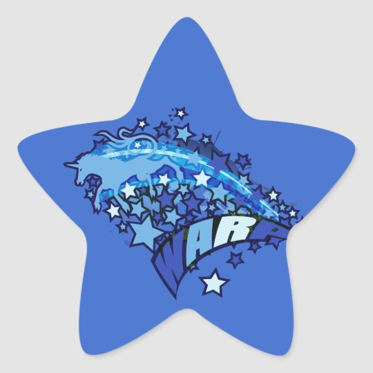 WARP STAR STICKER