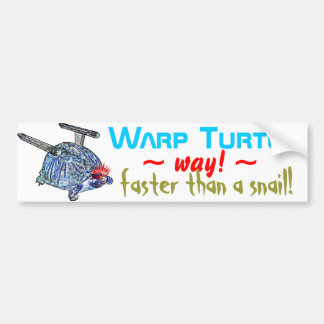 Warp Turtle Bumper Sticker