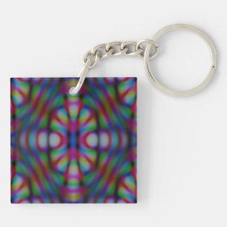warp zone rainbow worm hole keychain