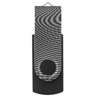 Warped and Twisted Checkerboard Flash Drive