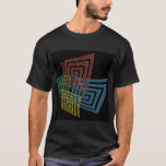 Warped And Woven Spiral Squares T-Shirt