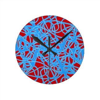 Warped Circles Round Clock