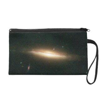 Warped, Edge-On Spiral Galaxy (Details from Image Wristlet Purse