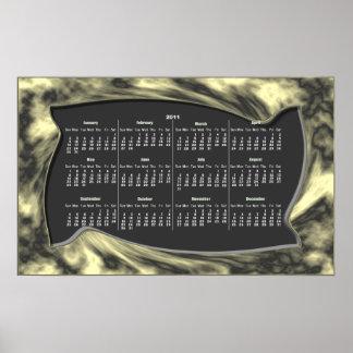 Warped Frame calendar ~ print