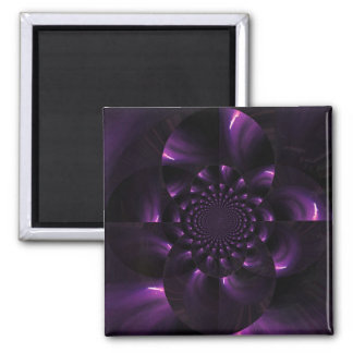 Warped Funky Fireworks 2 Inch Square Magnet