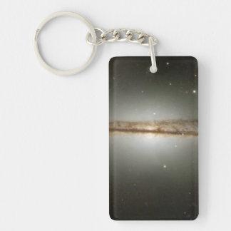Warped galaxy Single-Sided rectangular acrylic keychain