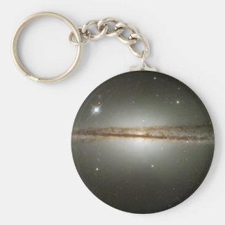 Warped galaxy basic round button keychain