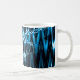 Warped glasses (blue) coffee mug