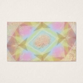 Warped Kaleidoscope - Light Colored Abstract Business Card