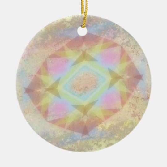 Warped Kaleidoscope - Light Colored Abstract Ceramic Ornament