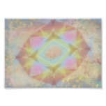 Warped Kaleidoscope - Light Colored Abstract Poster