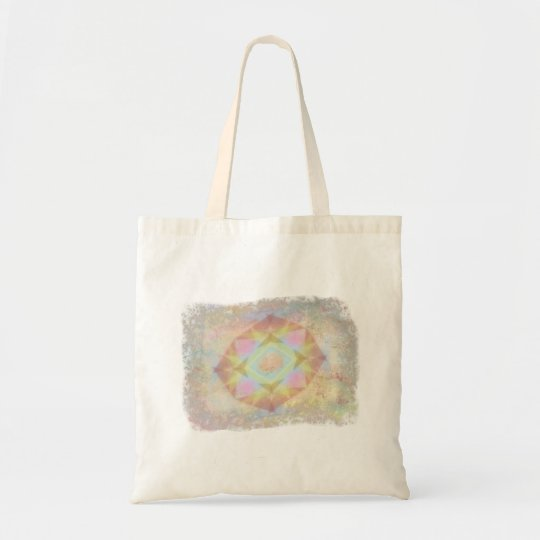 Warped Kaleidoscope - Light Colored Abstract Tote Bag