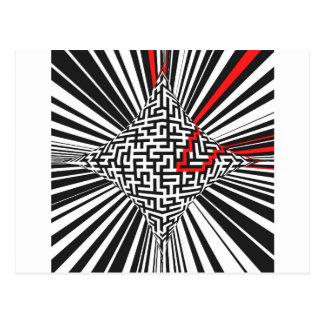 Warped Maze Explosion Postcard