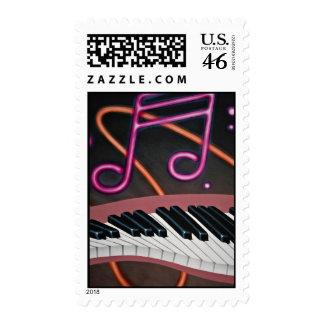 Warped music stamps