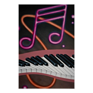 Warped music poster