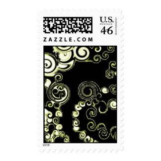warped pattern postage stamps