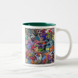 Warped Pattern Style Coffee Mug (both sides)