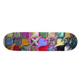 Warped Pattern Style Colorful Skateboard