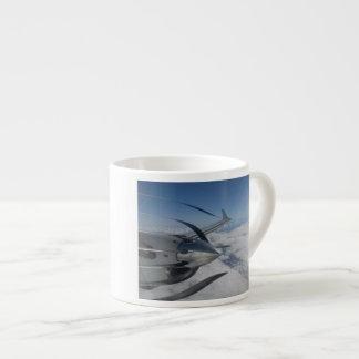 Warped Propeller Espresso Mug 6 Oz Ceramic Espresso Cup