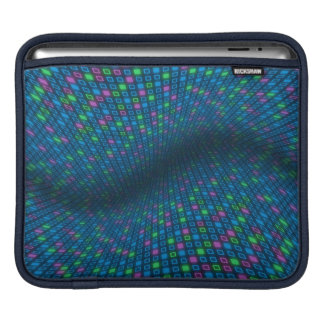 Warped Squares Design iPad Sleeve
