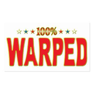 Warped Star Tag Business Card Templates