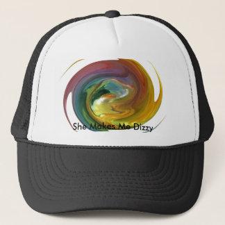 Warped time trucker hat
