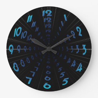 Warped Wormhole Space Tunnel Numbers Large Clock
