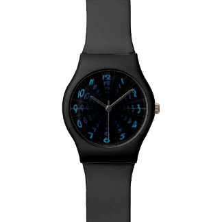 Warped Wormhole Space Tunnel Numbers Wristwatches