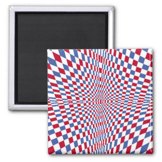 Warping square stylish pattern 2 inch square magnet