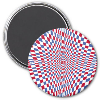 Warping square stylish pattern 3 inch round magnet