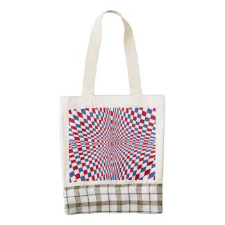 Warping square stylish pattern zazzle HEART tote bag