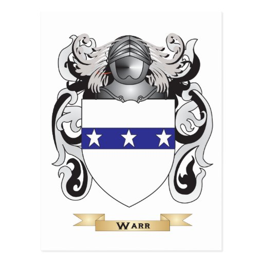 Warr Family Crest (Coat of Arms) Postcard