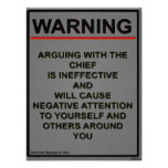 Warrant Officer Warning Message Print