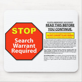 warrant required mousepad