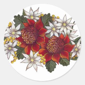 Warratha Flannel Flower Classic Round Sticker