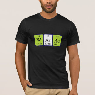 Warre periodic table name shirt
