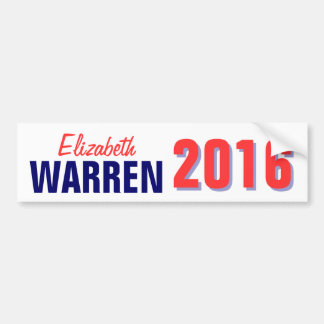 Warren 2016 pegatina de parachoque