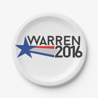 Warren 2016 paper plate