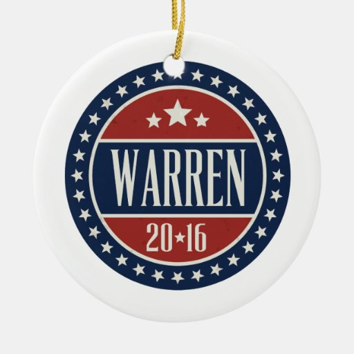 WARREN 2016 STARCIRCLE -.png Christmas Tree Ornament