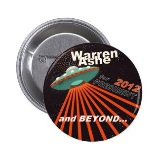 Warren Ashe 2012 Pin Redondo De 2 Pulgadas