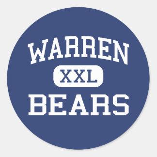 Warren - Bears - High School - Downey California Classic Round Sticker