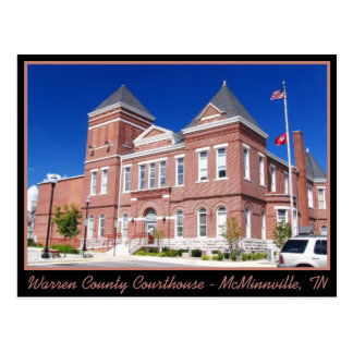 Warren County Courthouse - McMinnville, TN Postcard