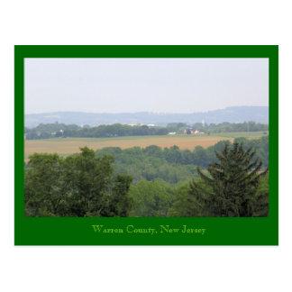Warren County, New Jersey Postcard