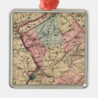 Warren County, NJ Metal Ornament