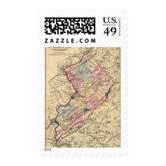 Warren County, NJ Postage Stamp