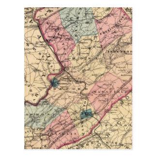 Warren County, NJ Postcard