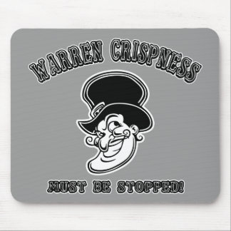 Warren Crispness Must Be Stopped! Mousepads