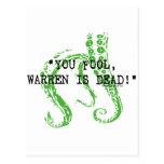 Warren es H.P. muerto Lovecraft Tarjeta Postal