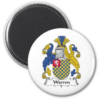 Warren Family Crest 2 Inch Round Magnet
